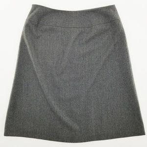 Talbots Lined Gray 100% Italian wool skirt